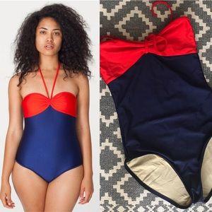 American Apparel bandeau swimsuit, medium